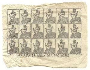 """""""santini eduli"""" dedicati a S. Anna, protettrice delle partorienti"""