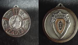 Medaglietta votiva di San Francesco di Paola