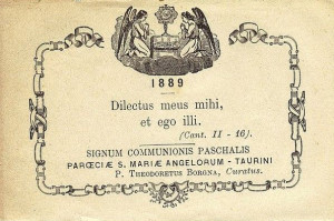 Signum Communionis Paschalis datato 1889
