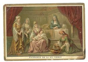 Nascita della Vergine Maria. Immaginetta n. 1 della Serie Nuovo Testamento