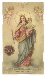 La versione della stessa immaginetta con il n. 55