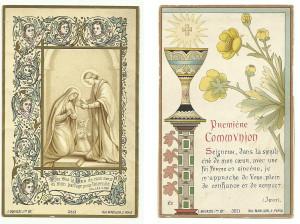 Souvenire de Premiere Communion. Parigi, Editore Bouasse Jeune, anni 80 dell'Ottocento. (Immaginette Disponibili)