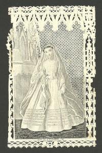 Siderografia su canivet meccanico. Parigi. Editore Blot, anni 60 dell'Ottocento. (Immaginetta Disponibile)