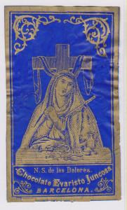 Litografia su celluloide. Anni 90 dell'Ottocento. Edizione Chocolate Evaristo Juncosa di Barcellona.