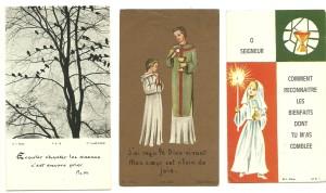 Tre santini stampati da Bouasse-Lebel negli anni 60. L'ultimo è del 1969