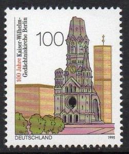 La chiesa della Memoria di Berlino in un francobollo