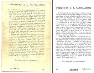 il verso delle due edizioni a confronto