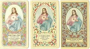 La prima di copertina di tre calendarietti editi dai Salesiani rispettivamente nel 1943, 1956 e 1962