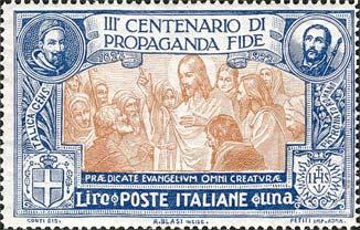 Filatelia religiosa: i valori postali di Propaganda Fide