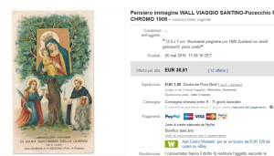 La cromolitografia venduta su ebay a Euro 30,51