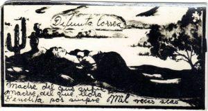 Un santino raffigurante la Difunta Correa