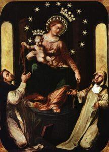 Il quadro della Vergine del Rosario di Pompei