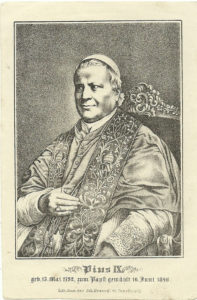 Litografia commemorativa del Giubileo di Pio IX