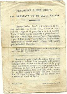 Pio IX lutto V