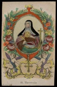 Santa Teresa d'Avila in un'incisione dei Koppe.