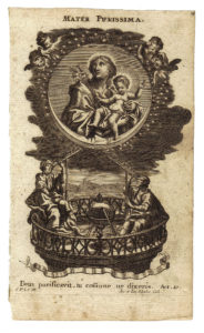 Incisione n. 15 della Serie Litaniae Lauretanae dei F.lli Klauber