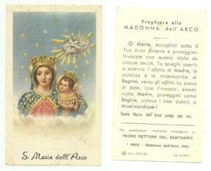 Santino edito da GN a metà del XX secolo.