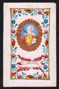 Santa Odilia in una miniatura settecentesca. Coll. priv. D. Vella