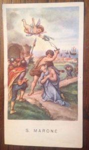 Il santino della Egim, San Marone, venduto su Ebay
