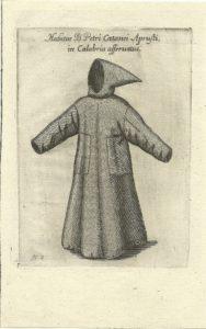Il saio indossato dal francescano Pietro Cattani