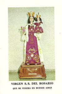 La Vergine del Rosario di Bonifati che si venera a Buenos Aires