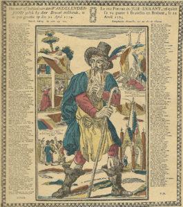 L'ebreo errante in una xilografia popolare fiamminga