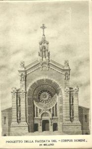 La facciata del Corpus Domini com'era nel progetto