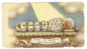 una nota immaginetta di Maria Bambina