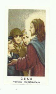 Gesù - Proteggi i soldati d'Italia. Edizioni Egim di Milano