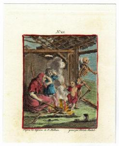 Incisione a bulino colorata a mano, realizzata nel 1780 da C. de Mechel su soggetto di J. Holbein