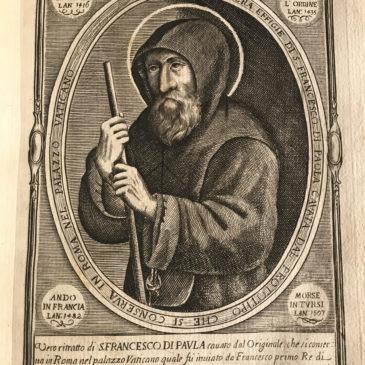 La vita di San Francesco di Paola… in un fumetto del 1700