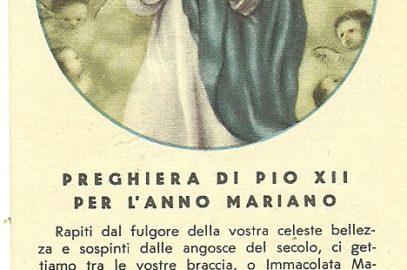 Errori nei santini. Le preghiere di Papa Pio XII